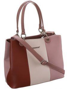 David jones růžová pruhovaná shopper kabelka vel. ONE SIZE 131512-475234