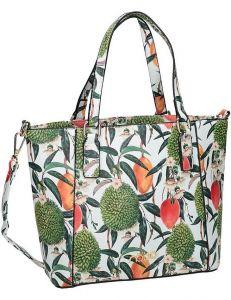 Dámská bílá kabelka s potiskem rostlin nobo vel. ONE SIZE 131518-475240