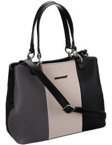 David jones černá pruhovaná shopper kabelka vel. ONE SIZE 131520-475242