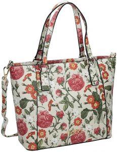Dámská bílá kabelka s květinovým potiskem nobo vel. ONE SIZE 131541-475263