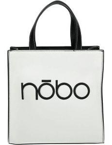 Nobo černo-bílá shopper kabelka s logem vel. ONE SIZE 131552-475274