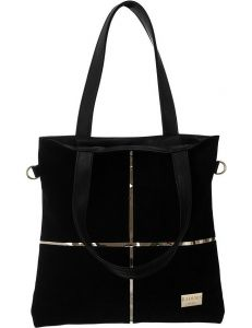 Badura černá shopper bag se zlatou křížovou aplikací vel. ONE SIZE 131555-475277