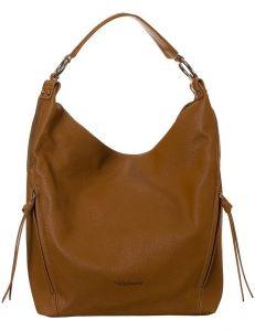 David jones karamelově hnědá kabelka s bočními kapsami cm6003 caramel brown vel. ONE SIZE 131556-475278