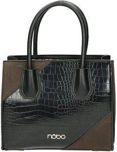 černá dámská shopper kabelka se zvířecím vzorem vel. ONE SIZE 131576-475298