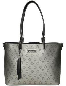 Nobo stříbrná vzorovaná shopper kabelka vel. ONE SIZE 131577-475299