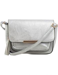 Stříbrná dámská crossbody kabelka vel. ONE SIZE 131597-475319
