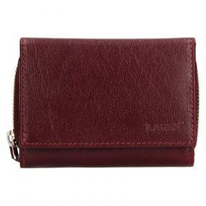 Dámská kožená peněženka Lagen Laura – vínová