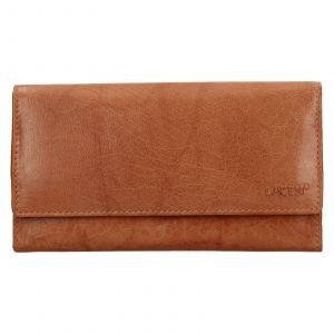 Dámská kožená peněženka Lagen Amalie – koňak
