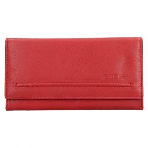 Dámská kožená peněženka Lagen Ludmila – červená