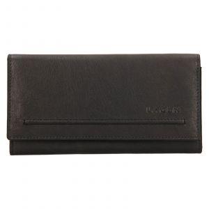 Dámská kožená peněženka Lagen Ludmila – černá