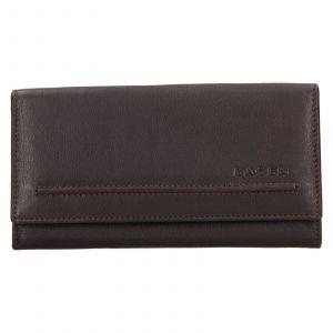 Dámská kožená peněženka Lagen Ludmila – tmavě hnědá