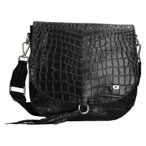 Luxusní dámské kožené crossbody Daag Kaila – černá