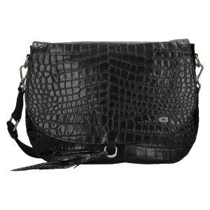 Luxusní dámské kožené crossbody Daag Kaija – černá