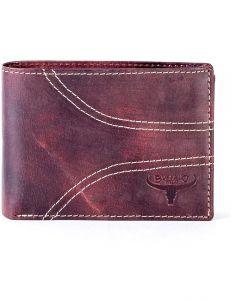 Hnědá pánská prošívaná peněženka vel. ONE SIZE 132851-479542