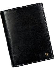 Pánská kožená černá peněženka vel. ONE SIZE 133496-482109