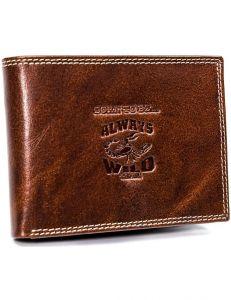 Always wild peněženka s ražbou – světle hnědá n992-kbr l brown vel. ONE SIZE 133555-482169