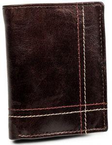 Pánská hnědá kožená peněženka always wild® vel. ONE SIZE 133631-482293