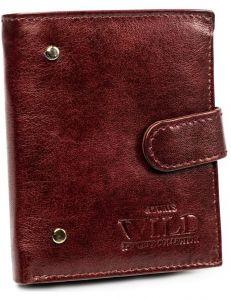 Pánská malá kaštanová kožená peněženka always wild® vel. ONE SIZE 133633-482295