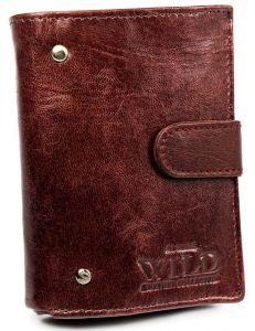 Malá kaštanová kožená peněženka always wild® vel. ONE SIZE 133634-482296