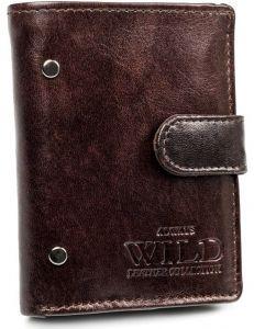 Pánská hnědá kožená peněženka always wild vel. ONE SIZE 133635-482297