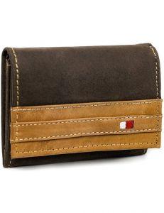 Always wild® hnědá pánská kožená peněženka vel. ONE SIZE 133639-482301