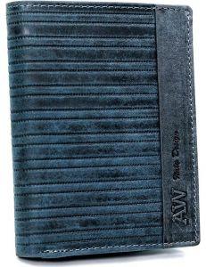 Always wild® modrá pánská kožená peněženka vel. ONE SIZE 133640-482302