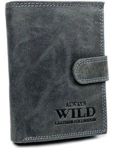 Always wild šedá kožená větší peněženka vel. ONE SIZE 133644-482306