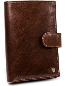 Pánská hnědá kožená peněženka rovicky vel. ONE SIZE 133648-482310