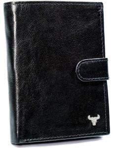 Pánská černá kožená peněženka buffalo wild vel. ONE SIZE 133653-482315