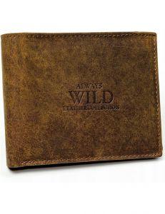 Always wild hnědá kožená peněženka vel. ONE SIZE 133678-482340