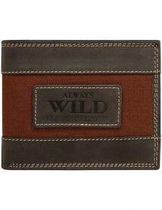Always wild originální hnědá peněženka vel. ONE SIZE 133706-482368
