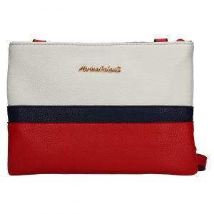 Dámská crossbody kabelka Marina Galanti Eira – červeno-bílá