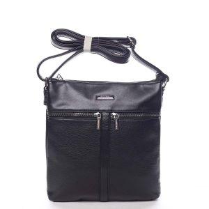 Dámská crossbody kabelka černá – Silvia Rosa Jersey černá