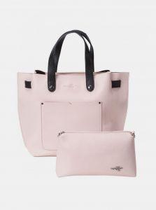 Světle růžová kabelka s pouzdrem Meatfly Alma