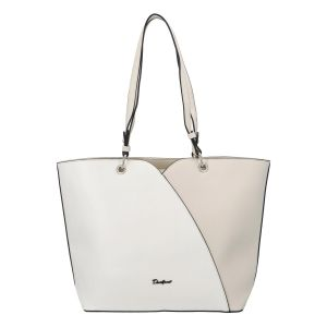 Dámská kabelka David Jones Aline – bílo-krémová