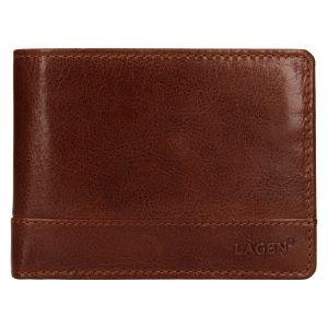 Pánská kožená peněženka Lagen Lorenc – koňak