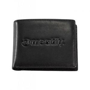 Meatfly Pánská kožená peněženka Brazzer Black