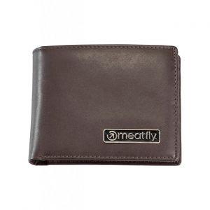 Meatfly Pánská kožená peněženka Pitfall Brown