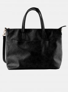 Černá vzorovaná velká kabelka Pieces Gabby