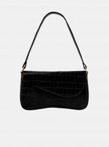 Černá vzorovaná kabelka Pieces Monai