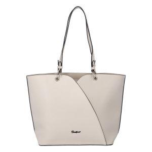 Dámská módní kabelka přes rameno krémově bílá – David Jones Bijanka krémová