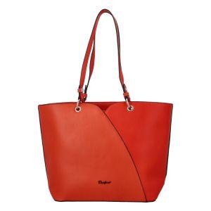 Dámská módní kabelka přes rameno oranžově červená – David Jones Bijanka červená