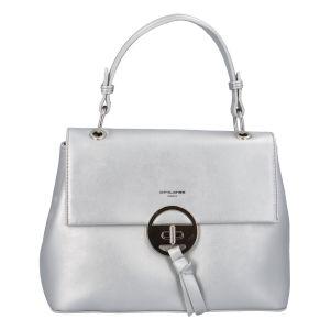 Dámská kabelka do ruky stříbrná – David Jones Sawary stříbrná