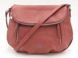 Růžová kabelka s klopou LULU CASTAGNETTE