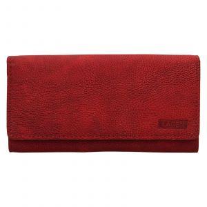 Dámská kožená peněženka Lagen Inge – červená
