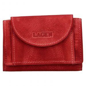 Dámská kožená slim peněženka Lagen Mellba – červená
