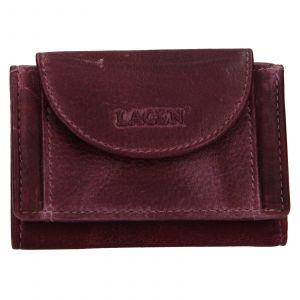 Dámská kožená slim peněženka Lagen Mellba – fialová