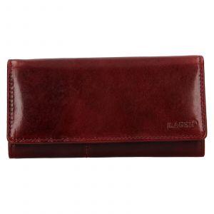 Dámská kožená peněženka Lagen Inge – tmavě červená