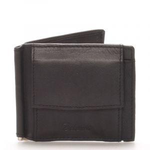 Malá kožená černá peněženka – Delami 8697 černá