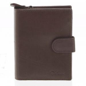 Kožená peněženka hnědá – Delami 101 hnědá